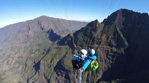 Paragliding-Cirque de Cilaos-Hike and fly paragliding over the Piton des Neiges, Réunion-2