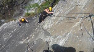 Klettersteig-Villach-Via Ferrata to Fallbach Waterfall, near Fischertratten-4