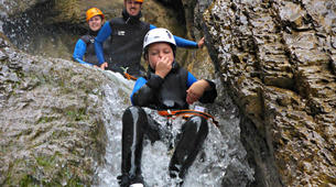 Canyoning-Lechtal-Family Canyoning in the Lechtal in Tyrol-5