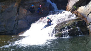 Canyoning-Gorges du Tarn-Canyoning dans les gorges du Banquet à Mamazet, Tarn-2
