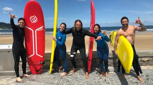Stand up Paddle-Hendaye-Stand Up Paddle excursion in Plage d´Hendaye-3