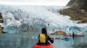 Randonnée glaciaire-Rosendal-Kayaking and glacier hike on the Møsevass Glacier-1