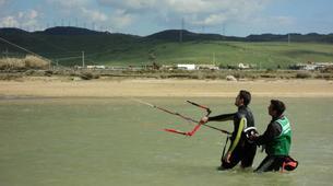 Kitesurfing-Tarifa-Private and semi private kitesurfing lessons in Playa de los Lances-1