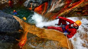 Canyoning-Cirque de Cilaos-Bras Rouge canyon in Cirque of Cilaos, Reunion-2