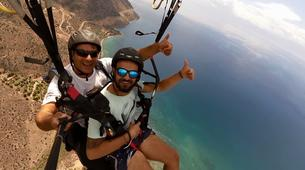 Paragliding-Delphi-Tandem paragliding flight in the Gulf of Itea at 2000m, Greece-1