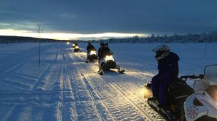 Snowmobiling-Rovaniemi-Chasing the Northern Lights on Snowmobile, near Rovaniemi-3