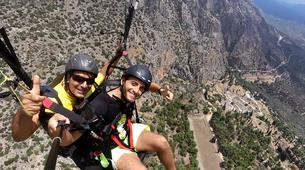Paragliding-Arachova-Tandem paragliding flight in Arachova, Greece-3