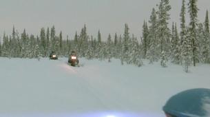 Snowmobiling-Kiruna-Overnight Aurora Hunter Snowmobile Adventure, near Kiruna-3