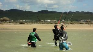 Kitesurfing-Tarifa-Group kitesurfing lessons in Playa de los Lances, Tarifa-3