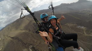 Paragliding-Costa Adeje, Tenerife-Standard paragliding tandem flight over Adeje-1