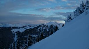 Backcountry Skiing-Flaine, Le Grand Massif-Sunset skiing in Flaine, Grand Massif-4