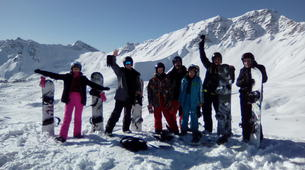 Backcountry snowboarding-Risoul, La Forêt Blanche-Freeride and freestyle snowboard sessions in Risoul-1