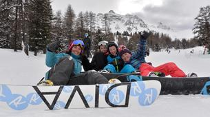 Backcountry snowboarding-Risoul, La Forêt Blanche-Freeride and freestyle snowboard sessions in Risoul-5