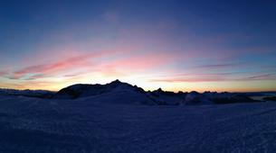 Backcountry Skiing-Flaine, Le Grand Massif-Sunset skiing in Flaine, Grand Massif-5