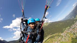 Parapente-Klosters-Summer tandem paragliding flight in Klosters-5