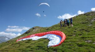 Parapente-Klosters-Summer tandem paragliding flight in Klosters-2