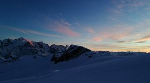 Backcountry Skiing-Flaine, Le Grand Massif-Sunset skiing in Flaine, Grand Massif-1