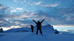 Backcountry Skiing-Flaine, Le Grand Massif-Sunset skiing in Flaine, Grand Massif-2