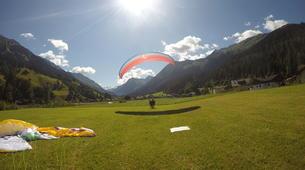 Parapente-Klosters-Summer tandem paragliding flight in Klosters-4
