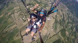 Parapente-Rome-Tandem Paragliding flight in Norma, near Rome-4