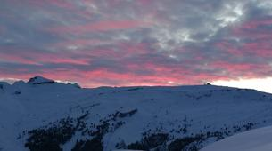 Backcountry Skiing-Flaine, Le Grand Massif-Sunset skiing in Flaine, Grand Massif-3