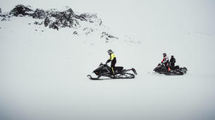 Snowmobiling-Gullfoss-Performance Snowmobile tour on Langjokull Glacier, Iceland-3