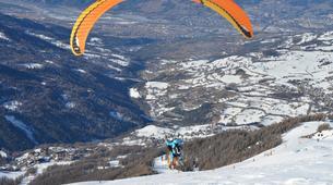 Paragliding-Les Orres-Tandem paragliding in Les Orres, Alps-1