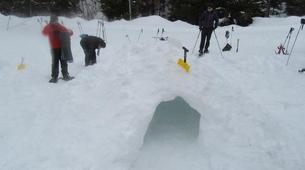 Snowshoeing-Morzine, Portes du Soleil-Snowshoeing and igloo building in Morzine, Portes du Soleil-5