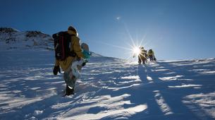 Estilo libre en snowboard-Val d'Aran-Snowboard freeriding in Baqueira- Beret-1