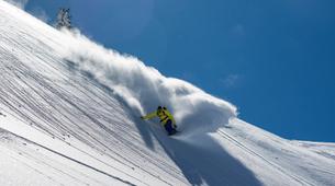 Estilo libre en snowboard-Val d'Aran-Snowboard freeriding in Baqueira- Beret-2