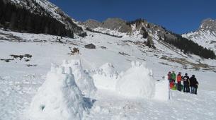 Snowshoeing-Morzine, Portes du Soleil-Snowshoeing and igloo building in Morzine, Portes du Soleil-1