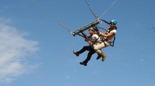 Saut à l'élastique-Parc National des Éléphants d'Addo-Giant Swing flight in Addo-3