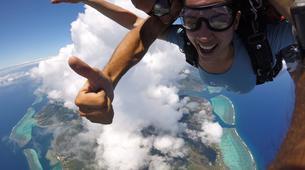 Parachutisme-Moorea-Saut en parachute tandem à Moorea en face de Tahiti-1