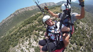 Paragliding-Province of Lleida-Tandem paragliding flight over Àger, Lérida-5