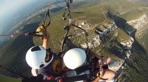 Paragliding-Province of Lleida-Tandem paragliding flight over Àger, Lérida-4