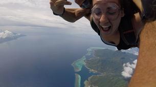 Parachutisme-Moorea-Saut en parachute tandem à Moorea en face de Tahiti-7
