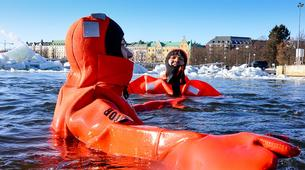 Snow Experiences-Helsinki-Survival Suit Floating in Helsinki-3