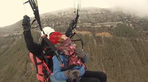 Paragliding-Province of Lleida-Tandem paragliding flight over Àger, Lérida-2