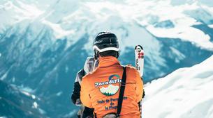 Paragliding-La Plagne, Paradiski-Tandem paragliding in La Plagne, Alps-15