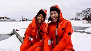 Snow Experiences-Helsinki-Survival Suit Floating in Helsinki-6