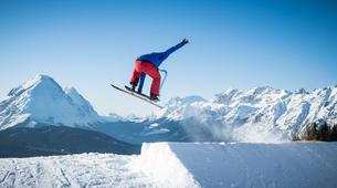 Freestyle snowboarding-Großglockner-Snowskating at the Grossglockner-4