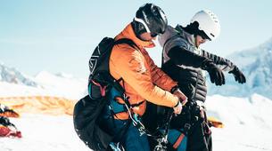 Paragliding-La Plagne, Paradiski-Tandem paragliding in La Plagne, Alps-13