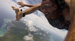 Parachutisme-Moorea-Saut en parachute tandem à Moorea en face de Tahiti-9