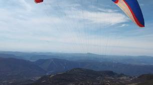 Paragliding-Province of Lleida-Tandem paragliding flight over Àger, Lérida-3