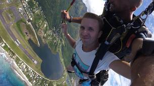 Parachutisme-Moorea-Saut en parachute tandem à Moorea en face de Tahiti-10