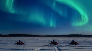 Snowmobiling-Rovaniemi-Northern Lights Snowmobile Excursion in Apukka near Rovaniemi-1