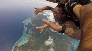 Parachutisme-Moorea-Saut en parachute tandem à Moorea en face de Tahiti-8