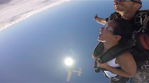 Parachutisme-Moorea-Saut en parachute tandem à Moorea en face de Tahiti-5