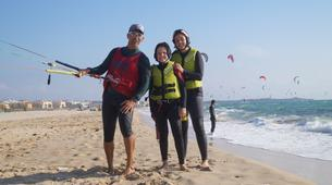Kitesurfing-Tarifa-Group kitesurfing lessons in Playa de los Lances, Tarifa-1