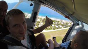 Parachutisme-Moorea-Saut en parachute tandem à Moorea en face de Tahiti-3